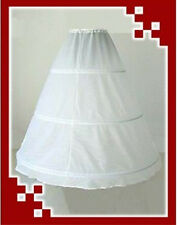 White 3-Hoop 1-Layer Wedding Dress Petticoat Underskirt