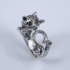 LOVELY CAT 925 Sterling Silver Thailand RING RINGS Jewelry O