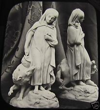 Glass Magic Lantern Slide RED RIDING HOOD STATUE C1890 PHOTO