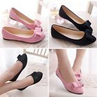 New Women Ballet Flats Casual Slip On Loafer Ballerina Slippers Bownot Shoes