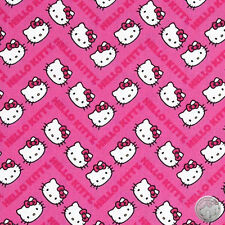 140106202 - New Hello Kitty Chevron Print Pink Quilt Fabric By the Yard