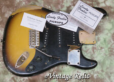aged loaded nitro aged Stratocaster body Fralin pups Callaham bridge Fender pick