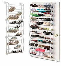 36 PAIRS OVER THE DOOR HANGING SHOE HOOK RACK HOLDER ORGANISER 12 Tier