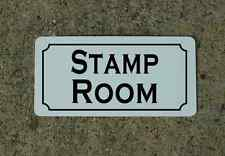 STAMP ROOM Metal Sign w/ Retro Vintage Look for Collecting or shop