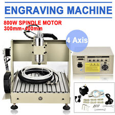 Mini CNC Router 3040 Milling Machine 4 Axis Engraving 800W Engraver Carving Kits