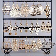 Lots 12pair Paires Mixed Styles boucles d'oreilles couleur or Dangle cadeau chic