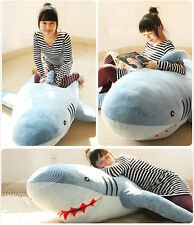 "71""(1.8M) GIANT HUGE SHARK STUFFED ANIMAL PLUSH SOFT TOY PILLOW SOFA BEAN BAG"
