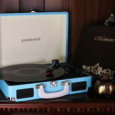 Record Player Home Turntable - 3 Speed setting - Built in rechargeable battery