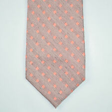 NWT CALVIN KLEIN Slim Skinny Silk Blend Orange Chalk Square Neck Tie