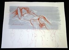 Hawaii Mixed Media Painting Sensual Nude on Icy Ground by Snowden Hodges (Sho)