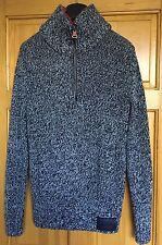 Camiseta para hombre de calidad edición géneros de punto doble cuello puente Top Gruesa Talla L