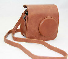 PU Leather Brown Camera Case Bag Holder For FUJIFILM Instax Mini7s Mini7 Nice