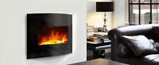 """30"""" Curved wall mounted / freestanding Electrical Fireplace"""