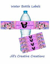 Minnie Mouse Water Bottle labels, Minnie Mouse, Birthday, Water Bottle Labels