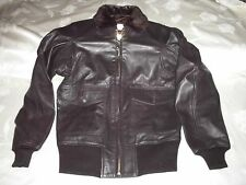 TYPE G-1 BLACK LEATHER USN FLYERS JACKET SZ XL (54L) MIL-J-7823E(AS) #E