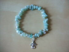 The ANGEL of  HOPE / CREATIVITY, AMAZONITE Gemstone Bracelet