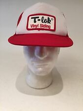 Vintage 1980s T-Lok Vinyl Siding Trucker Hat Cap Patch SnapBack Fast Ship