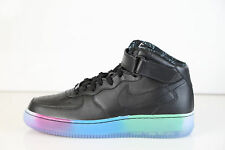 Nike Air Force 1 Mid Premium iD All Star Black Multi Color Fade Sole 10 af1 as