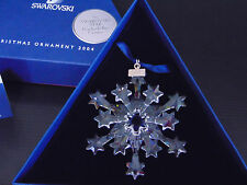 NEW Swarovski 2004 Crystal Star SNOWFLAKE CHRISTMAS ORNAMENT Rockefeller Center