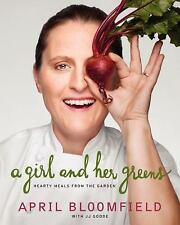 A GIRL AND HER GREENS A. Bloomfield BRAND NEW HARDCOVER COOK BOOK Discounted!