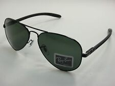 RAY-BAN AVIATOR TECH POLARIZED SUNGLASSES RB8307 002/N5 BLACK/G-15 XLT LENS 58MM