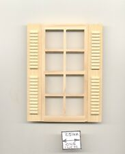 Window w/ Shutters dollhouse miniature 1:12 scale wood.5003 1""