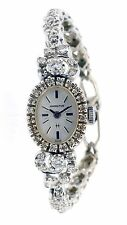 Vintage 1960s Lady's Hamilton Cocktail Watch - 14k White Gold with Diamonds