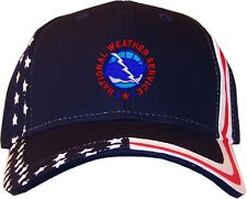 National Weather Service Embroidered Stars & Stripes Baseball Cap Hat  Navy NWS