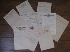 10 Vintage 1890's Business Receipts / Chicago, Mpls- St. Paul, & More  Authentic