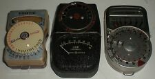 CAMERA VINTAGE LIGHT METER LOT OF 3 GE DW-68 WESTON 748 UNITTIC SHOWAKODEN 31