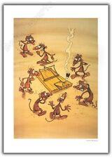 Affiche Offset PTILUC Face de rats Piege 50x70