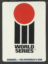 AUSTRALIA 1990 STIMOROL GUM WORLD SERIES LOGO CRICKET TRADE CARD No 38