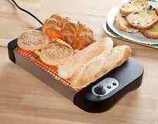 NEW Electric Large Worktop Flat Bed Toaster Stainless Steel Easy Clean UK SELLER