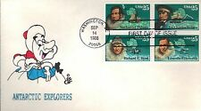 USA HAND PAINTED RICHARD ELLIS ANIMATED FIRST DAY COVER 1988 ANTARTIC EXPLORERS