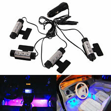 4x 3 LEDS Car Charge Interior Accessories Floor Decorative Atmosphere Lamp Light