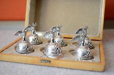 Silber 84 russische Vodka Helme 6er Set  -Silver 84 russian vodka helmet um 1910
