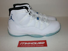 New Nike Air Jordan XI 11 Retro Legend Blue Columbia Baby White Shoes Size 11