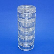 80 set Mini Clear Plastic Jar 5 Stacked Storage Container Travel Sample Case 5 g