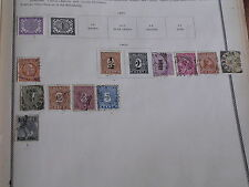 12 Antique Dutch East Indies Postage Stamps/1897-1902/Hinged on Album Page