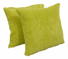 """A Set of 4  Chenille Stripe Cushion Covers  (18"""" x 18"""")"""