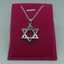 Hot NF Silver Pendant For Necklace Men Jewish Star of David