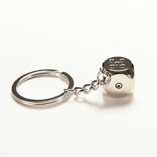 Dice Keychain Brand New High-class Car Key Ring Chain Metal Pendant WB