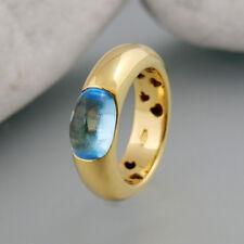 Ring mit Aqamarin in 750/18k Gelbgold