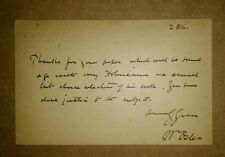 SIGNED WILLIAM OSLER CORRESPONDENCE - including an ALS and postcard - free S/H