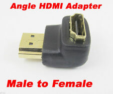 """1pc 19pin HDMI Male to Female M/F """"L"""" Shape 90D Gold Plated Adapter Converter"""