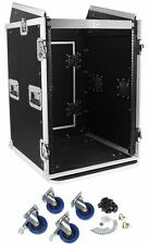 Pro X TOV T-16MRSS 16U Straight +10U Slanted DJ Rack Flight Case w/Wheels 3/8""