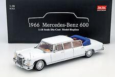 MERCEDES-BENZ 600 LANDAULET année modèle 1966 blanc 1:18 sunstar