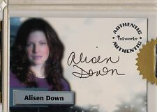 SMALLVILLE - SEA 5 - ALISEN DOWNS AS LILLIAN LUTHOR AUTOGRAPH CARD - A40