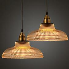 Industrial Copper Glass Shade Ceiling Light Chandelier E27 Pendant Fitting Lamp