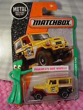 2017 Matchbox #120 TOYOTA LAND CRUISER FJ40☆Yellow/brown☆Explorers☆Case A